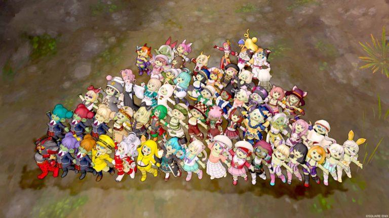 毎回表示しきれないほどのどわこちゃんが集まるプレイベ☆ドワ子集会