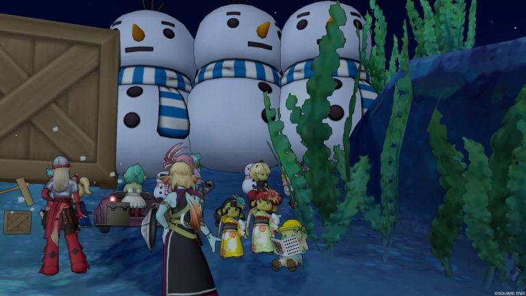 恒例の雪だるまさんたち☆