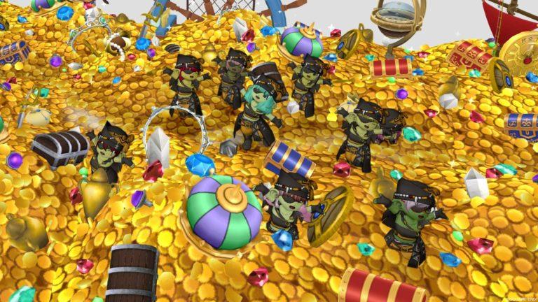 やっぱり海賊はお宝の山に乗っからなくちゃ☆